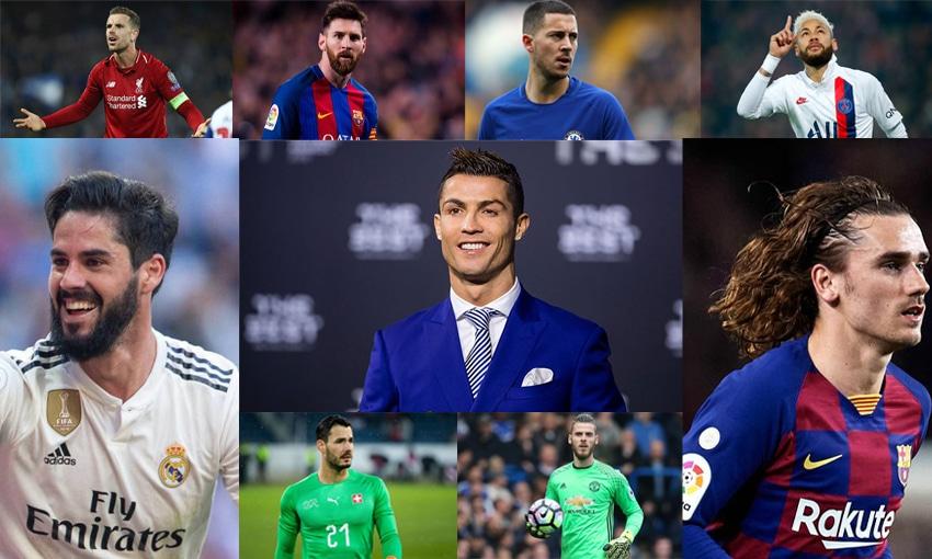 TOP 10 นักฟุตบอลฮอตที่สุด
